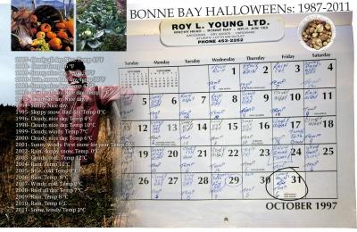 Bonne Bay Halloweens: 1987–2011