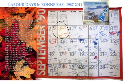 Labour Days in Bonne Bay- 1987-2011