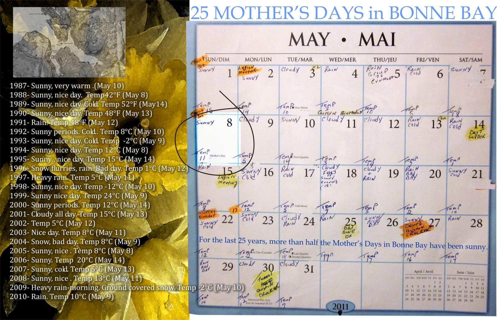 25 Mother's Days in Bonne Bay