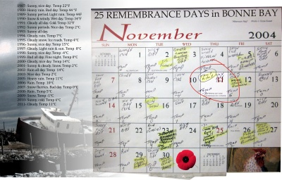 25 Remembrance Days in Bonne Bay