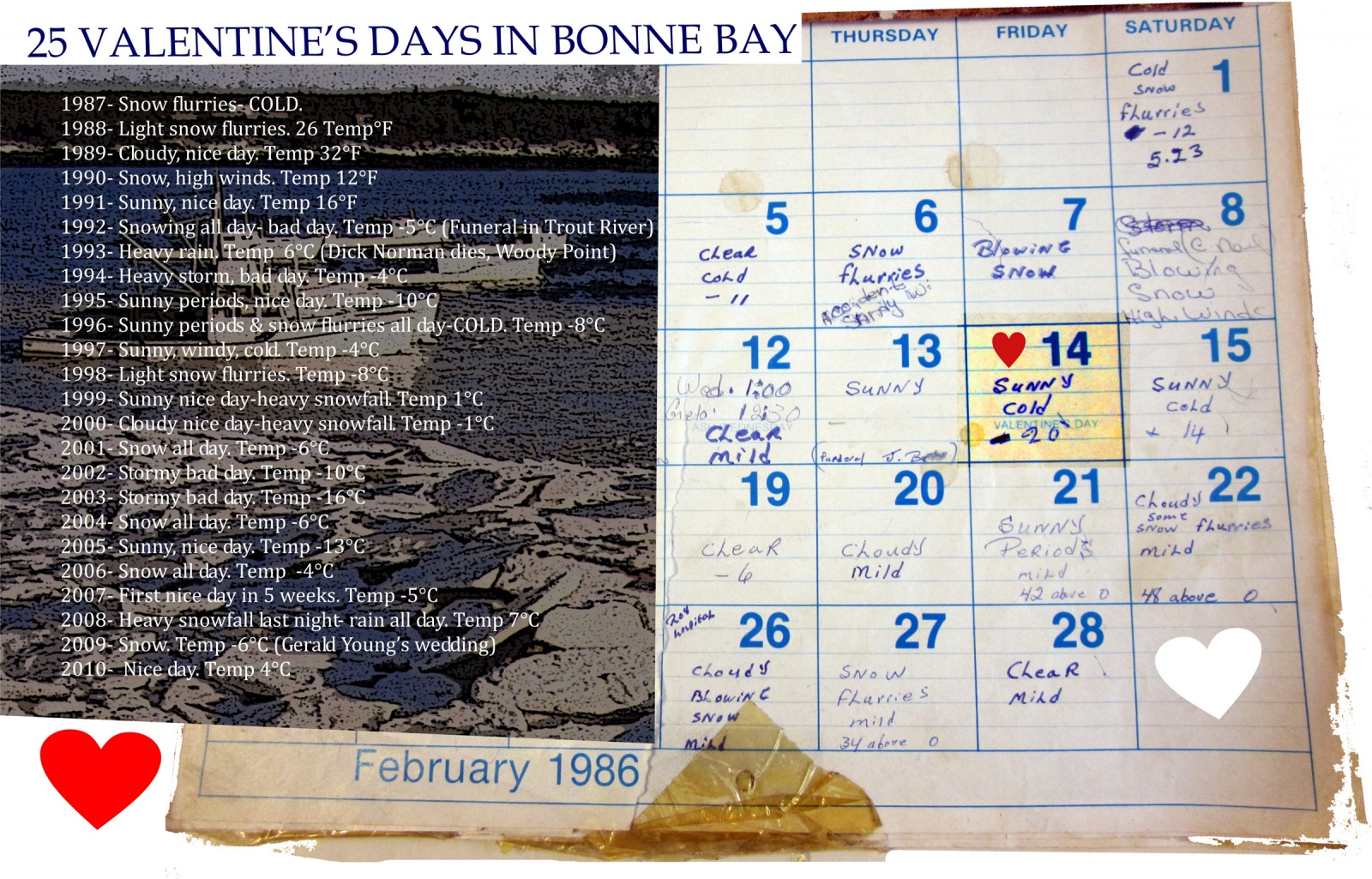 25 Valentine's Days in Bonne Bay