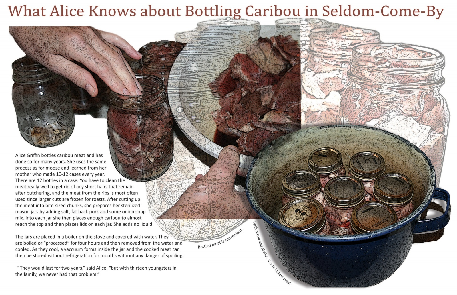 What Alice Knows about Bottling Caribou in Seldom-Come-By