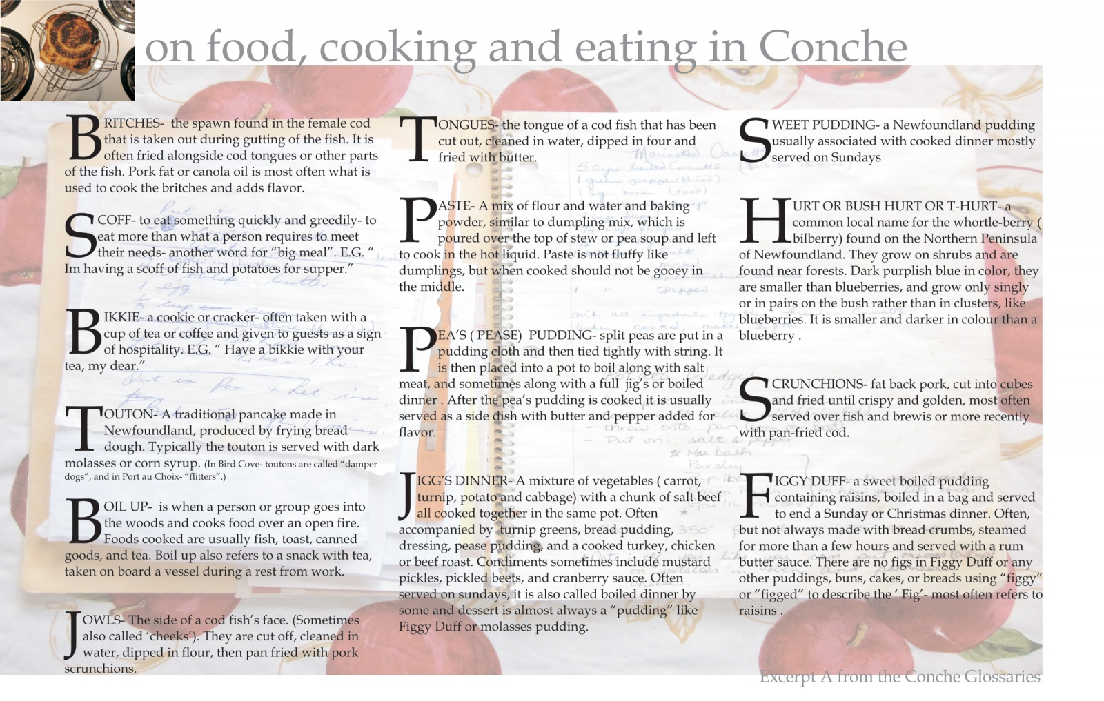 On food, cooking and eating in Conche