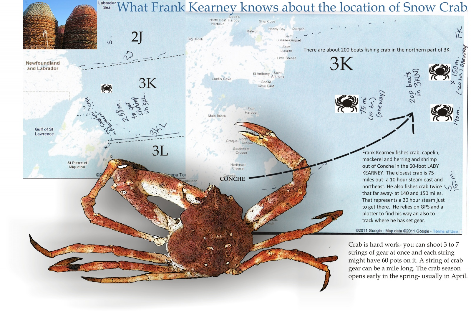 What Frank Kearney knows about the location of Snow Crab
