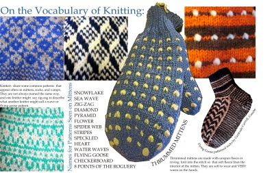 On the Vocabulary of Knitting