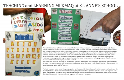 Teaching and Learning Mi'kmaq at St. Anne's School