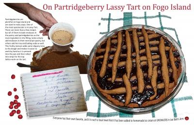 On Partridgeberry Lassy Tart on Fogo Island