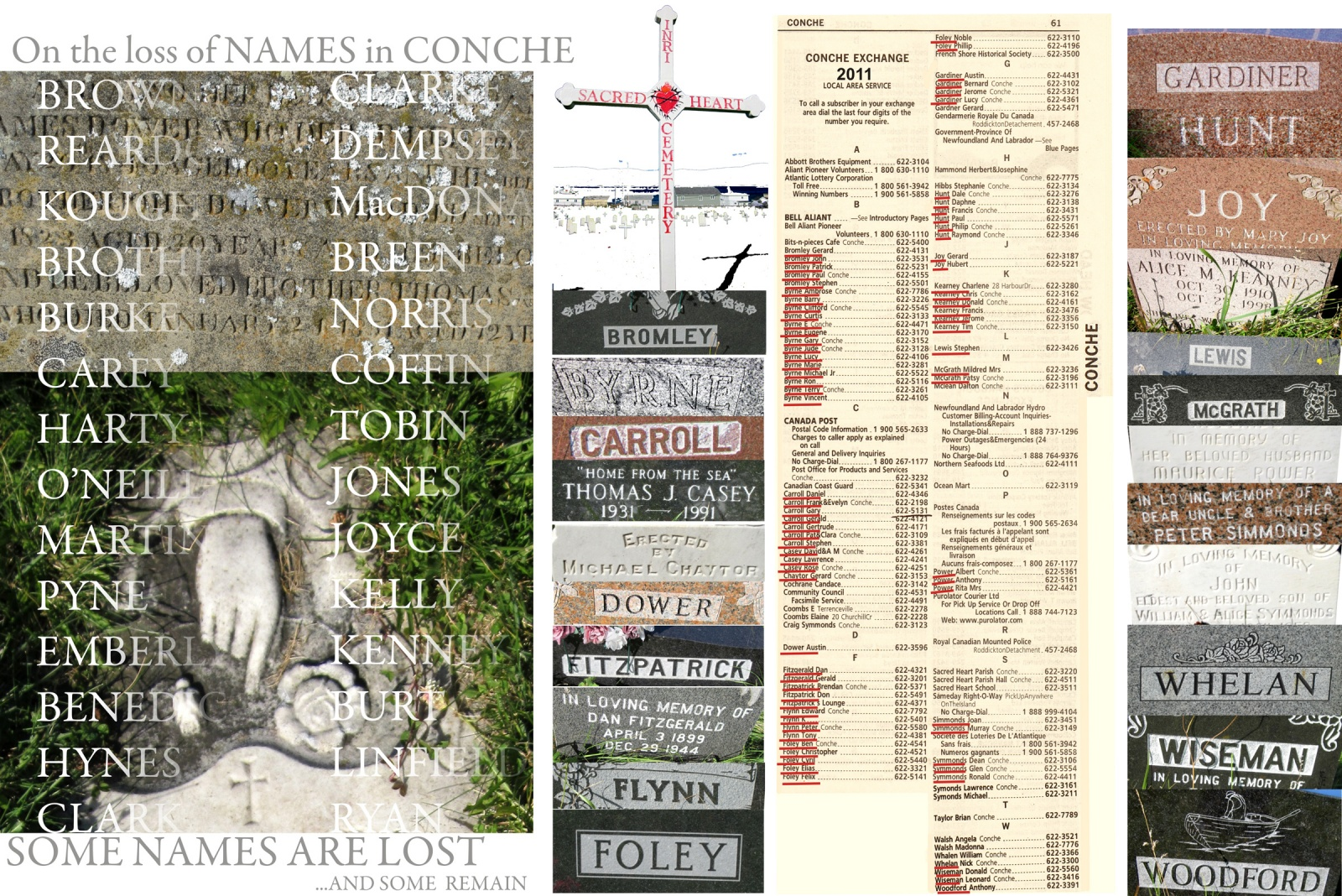 On the Loss of Names in Conche