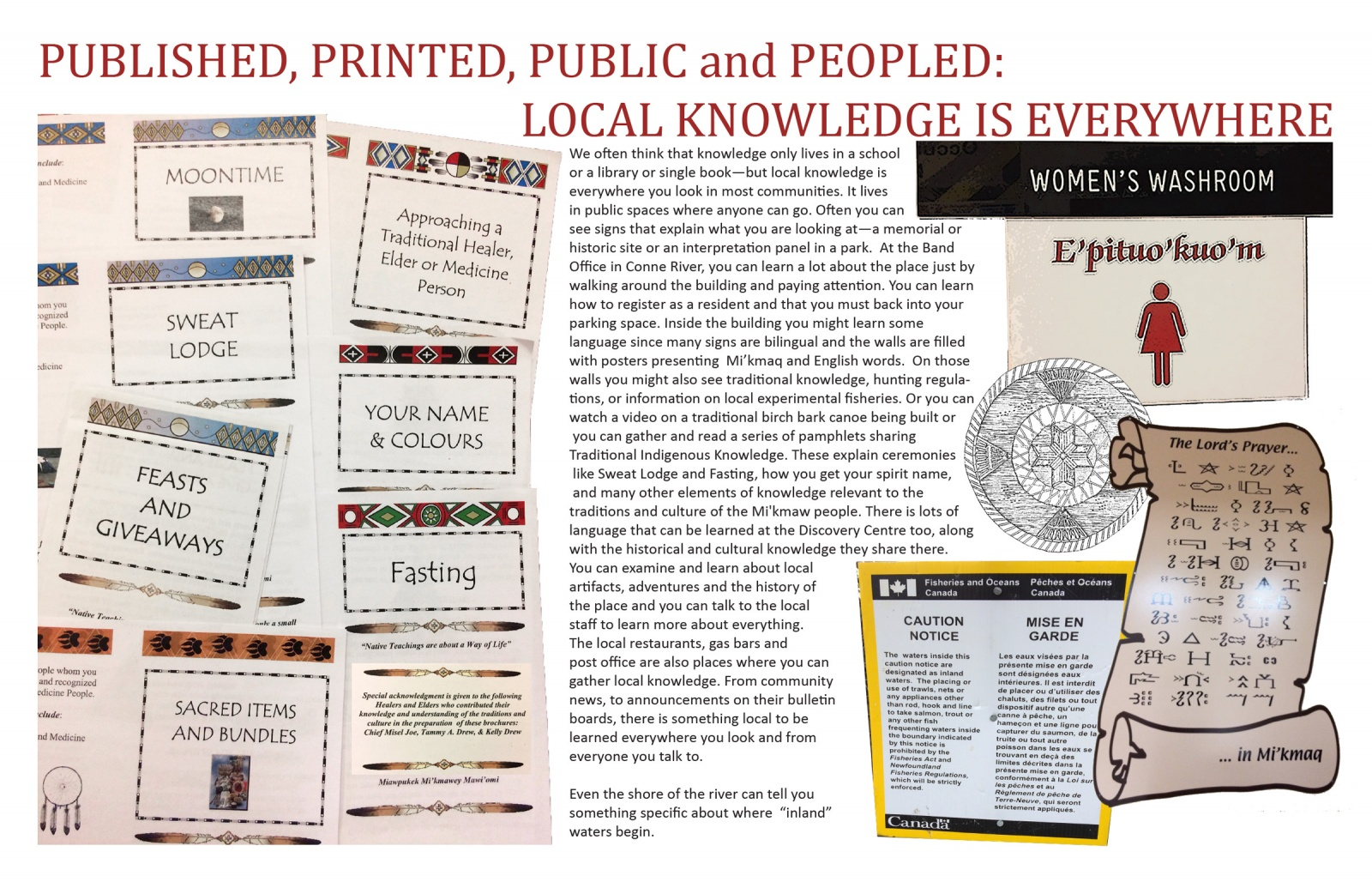Published, Printed, Public and Peopled: Local Knowledge is Everywhere