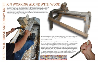 The Pinch-Horse and Draw Knife: On Working Alone with Wood