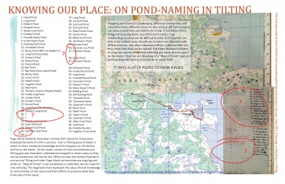 Knowing Our Place: On Pond-Naming in Tilting