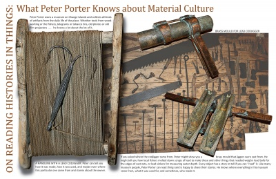 On Reading Histories in Things: What Peter Porter Knows about Material Culture