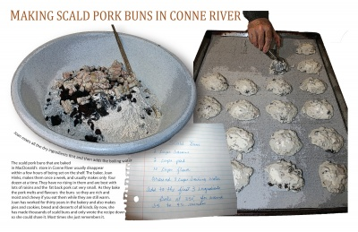 Making Scald Pork Buns in Conne River