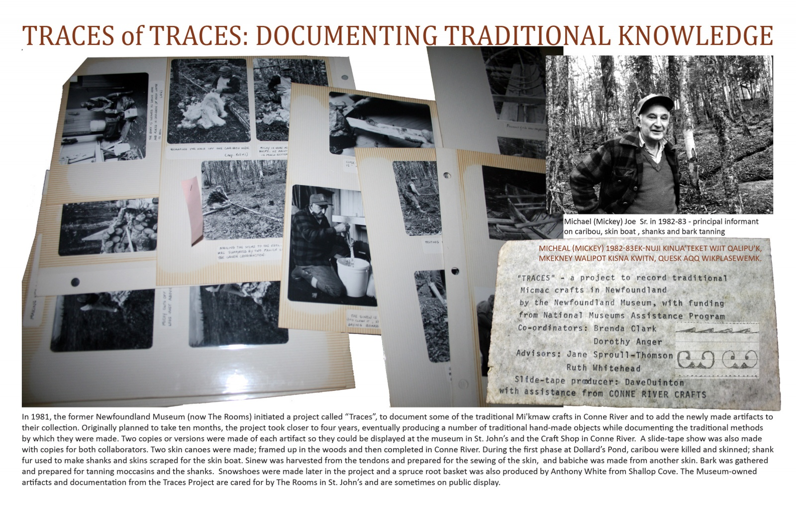 Traces of Traces: Documenting Traditional Knowledge