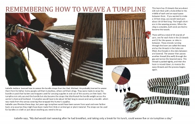 Remembering How to Weave a Tumpline