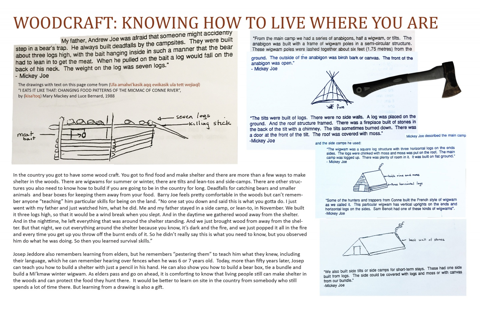 Woodcraft: Knowing How to Live Where You Are