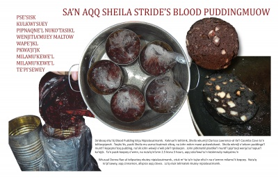 Sa'n Aqq Sheila Stride's Blood Puddingmuow