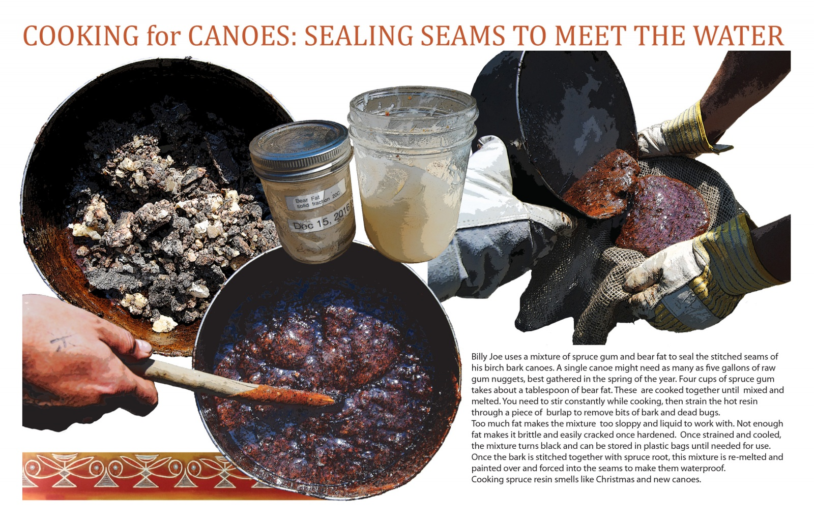 Cooking for Canoes: Sealing Seams to Meet the Water