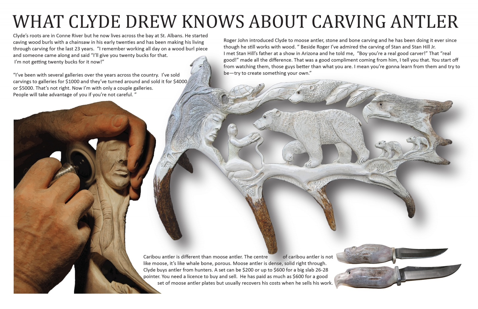 What Clyde Drew Knows About Carving Antler