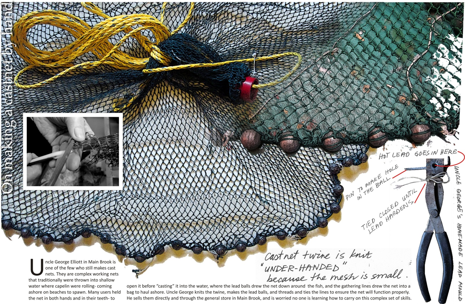 On making a castnet by hand
