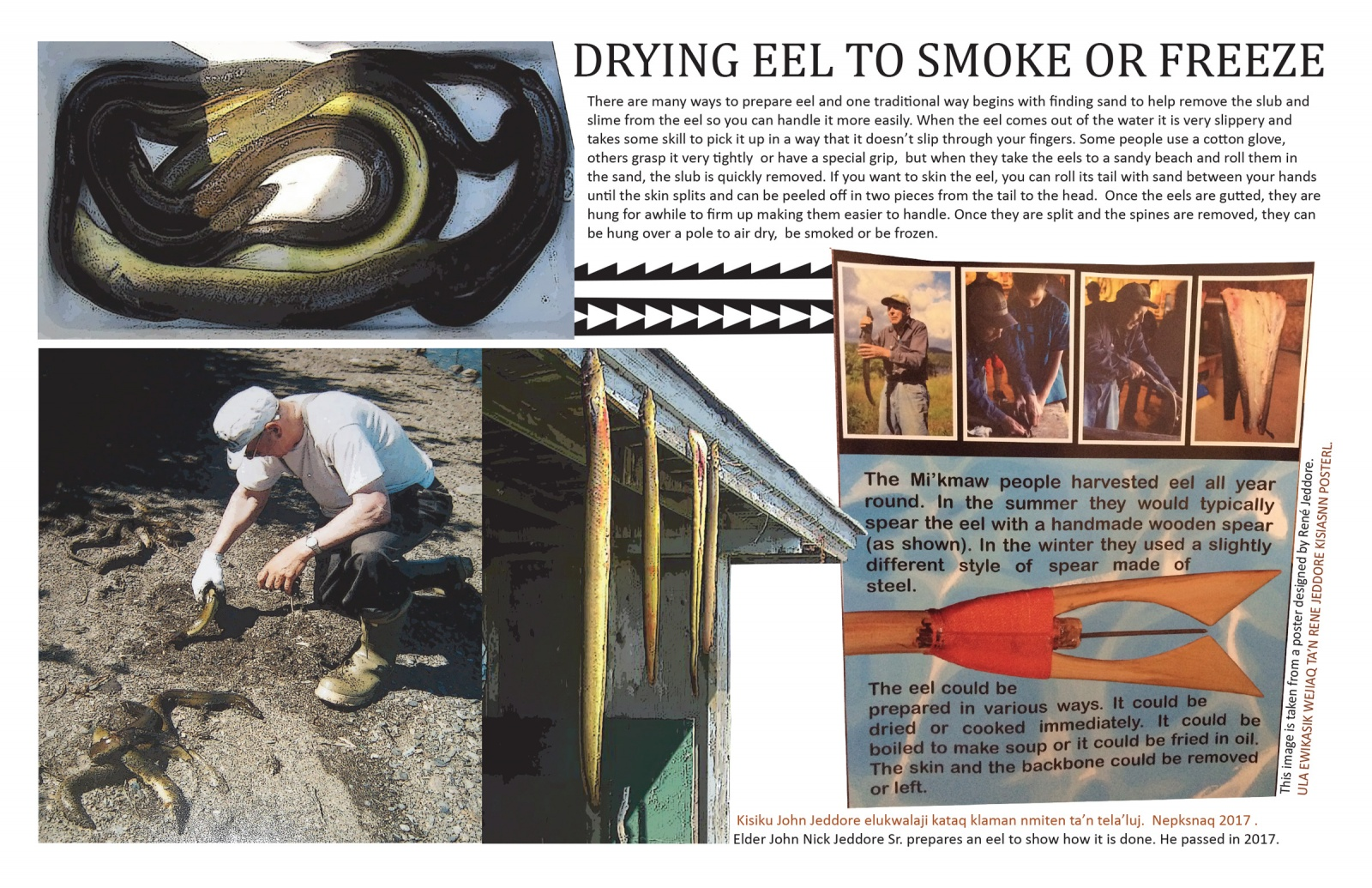 Drying Eel to Smoke or Freeze