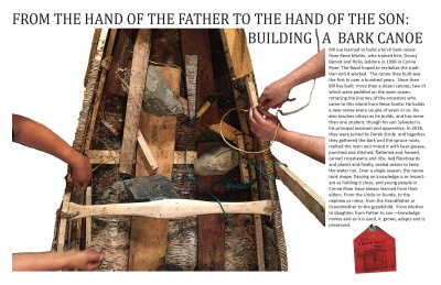 From the Hand of the Father to the Hand of the Son: Building a Bark Canoe