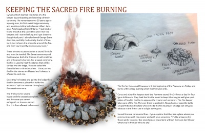 Keeping the Sacred Fire Burning
