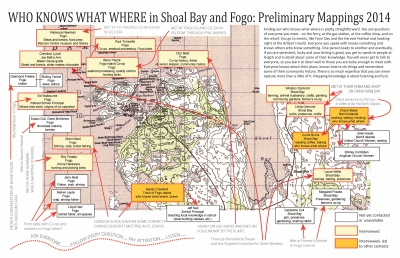 Who Knows What Where in Shoal Bay and Fogo: Preliminary Mappings 2014