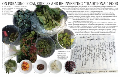 On Foraging Local Edibles and Re-inventing