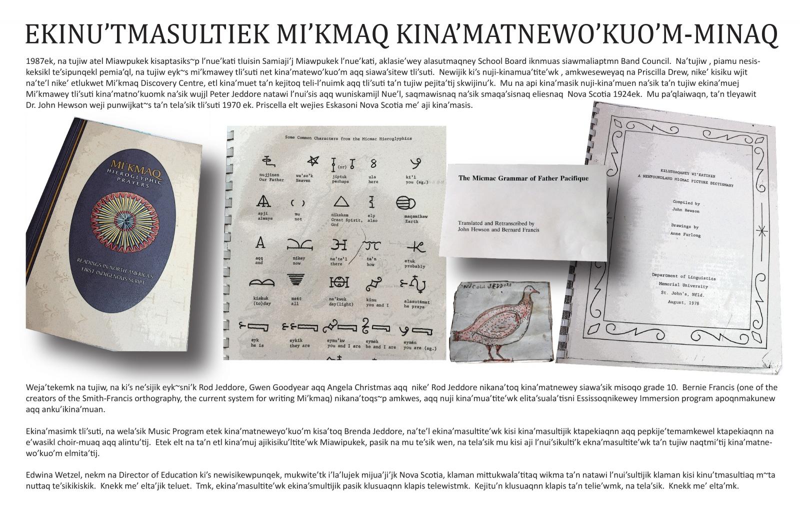 Ekinu'tmasultiek Mi'kmaq Kina'matnewo'kuo'm-minaq