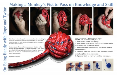 Making a Monkey's Fist to Pass on Knowledge and Skill