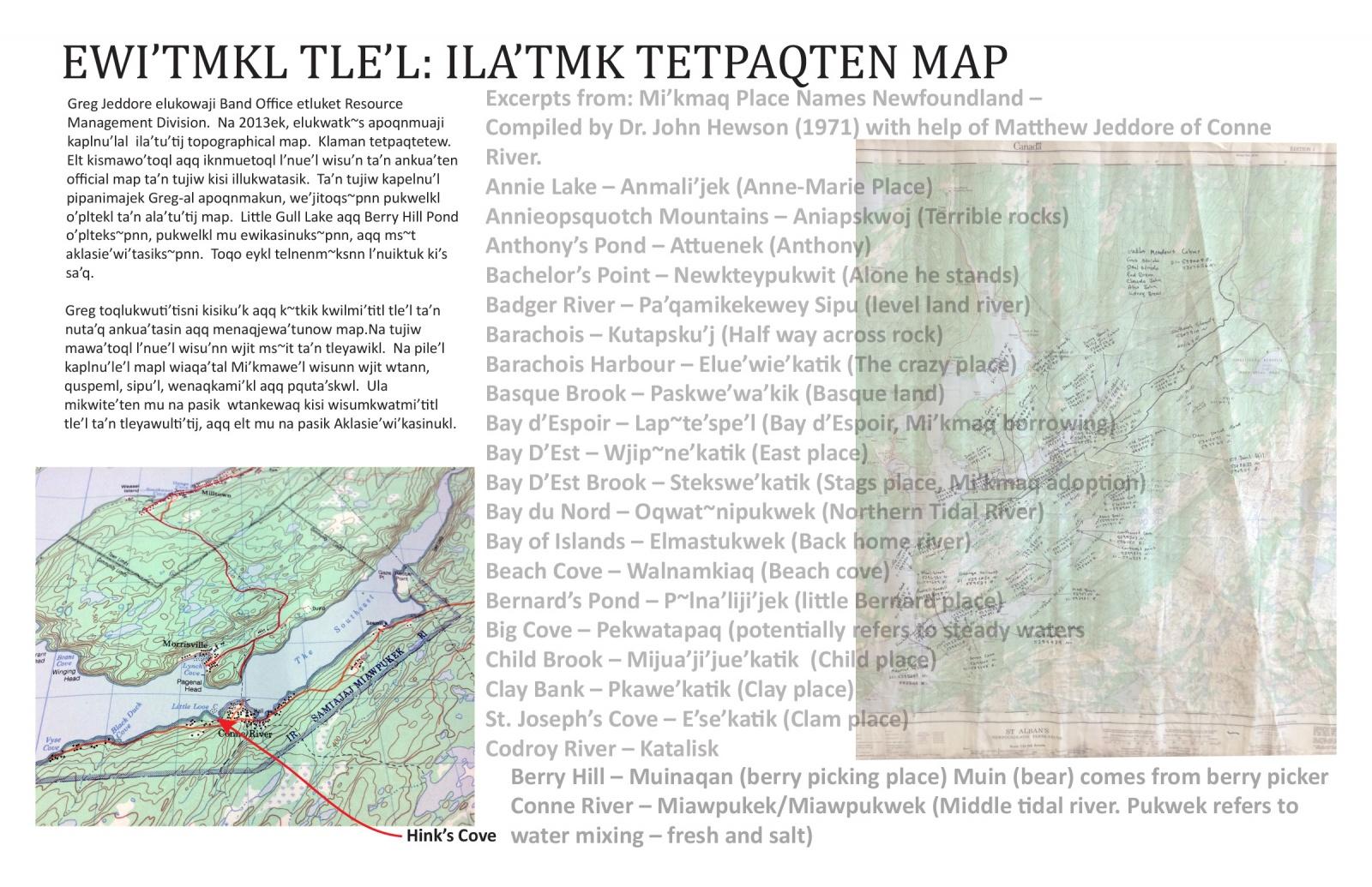 Ewi'tmkl Tle'l: Ila'tmk Tetpaqten Map