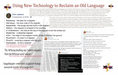 Using New Technology to Reclaim an Old Language