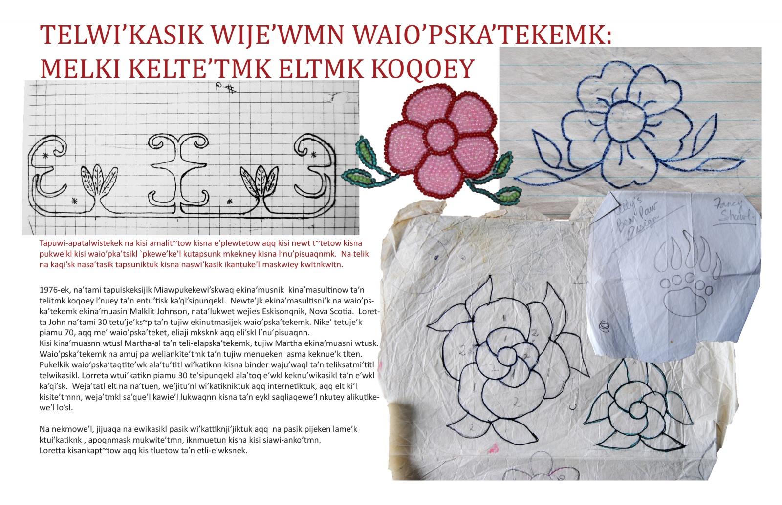 Telwi'kasik Wije'wmn Waio'pska'tekemk: Melki Kelte'tmk Eltmk Koqoey