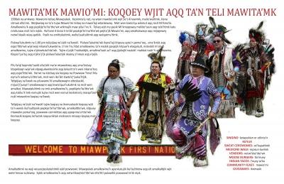 Mawita'mk Mawio'mi: Koqoey Wjit Aqq Ta'n Teli Mawita'mk