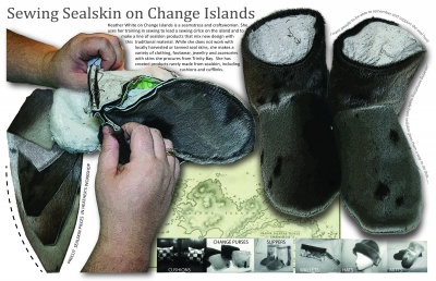 Sewing Sealskin on Change Islands