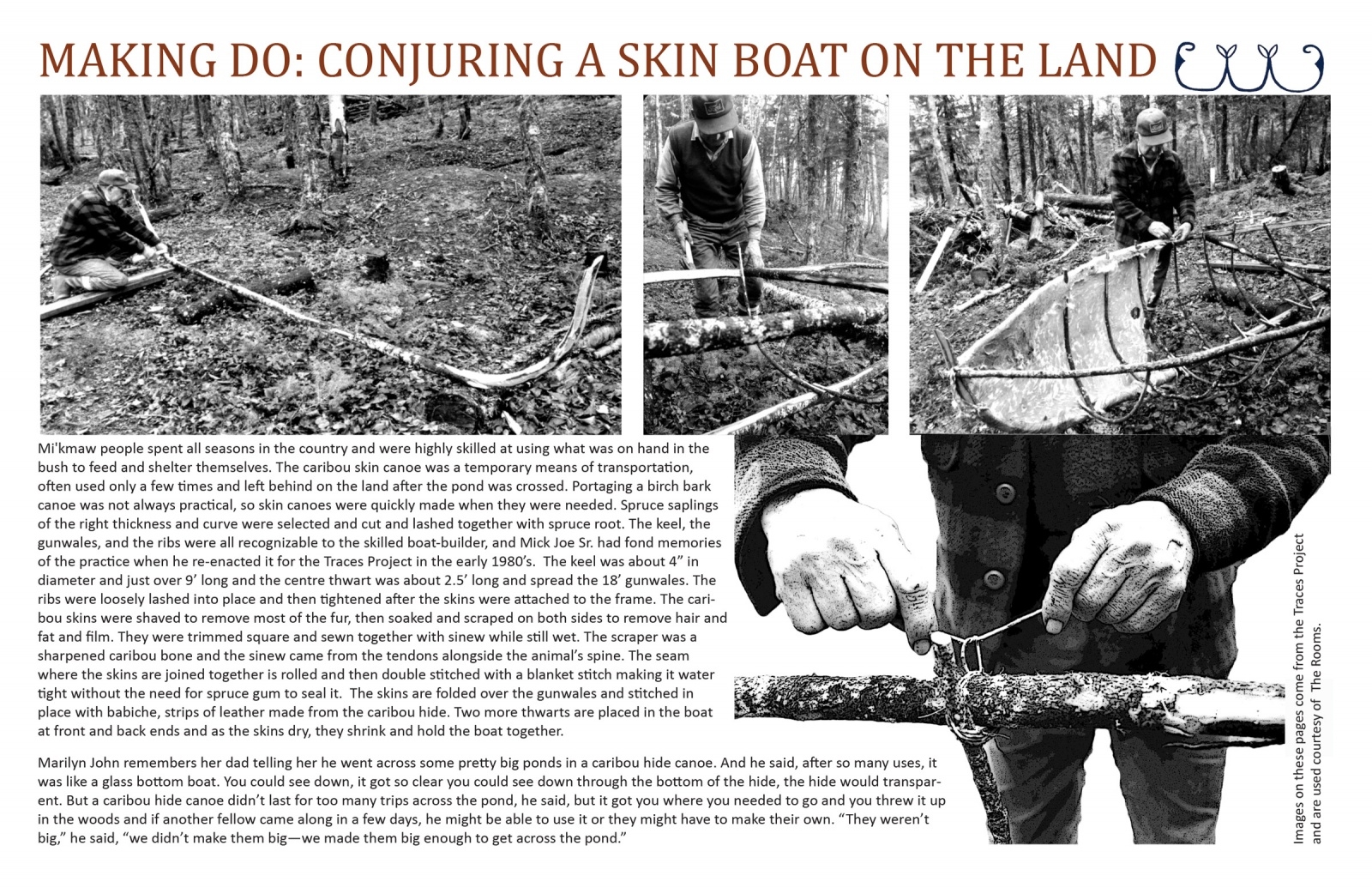 Making Do: Conjuring a Skin Boat on the Land