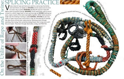 On the Utility of Rope and Twine: Splicing Practice