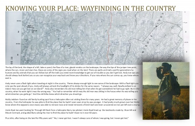 Knowing Your Place: Wayfinding in the Country