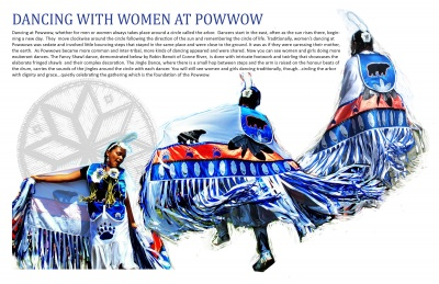 Dancing with Women at Powwow